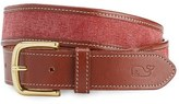 Vineyard Vines Leather & Canvas Belt