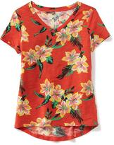 Old Navy Relaxed Printed V-Neck Tee for Girls