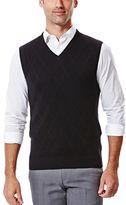 Haggar Men's Textured V-Neck Sweater Vest