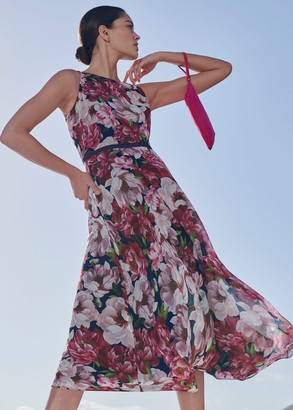 Hobbs Carly Floral Midi Dress