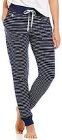 Lauren Ralph Lauren Striped Pique Lounge Jogger Pants