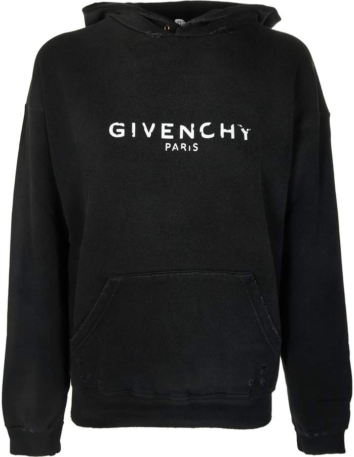 Givenchy Distressed Logo Hoodie