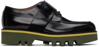 Dries Van Noten Black Leather Lace-Up Derbys