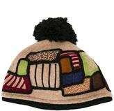 Le Chapeau patterned pompom beanie