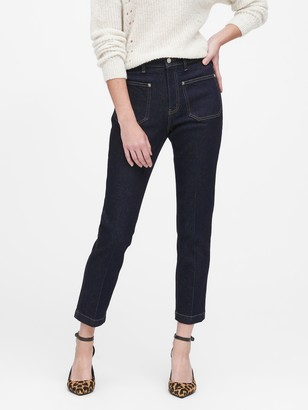 Banana Republic High-Rise Straight-Fit Patch Pocket Jean