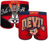 Looney Tunes Bugs Bunny Taz Official Gift 2 Pack Mens Boxer Shorts