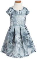 Ruby & Bloom 'Illusion' Floral Print Fit & Flare Dress (Toddler Girls, Little Girls & Big Girls)