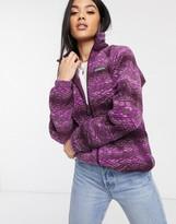Columbia Benton Springs printed full zip fleece in purple