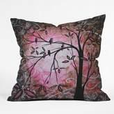 Deny Designs Madart Blossoms Throw Pillow