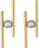 Rebecca Minkoff Core Metal Linear Post Earrings