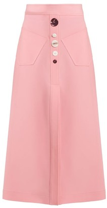 Ellery Aggie A Line Wool Blend Skirt - Womens - Pink