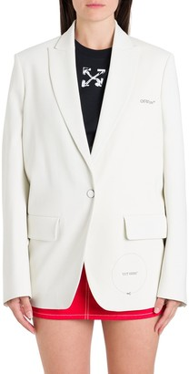 Off-White Motif Printed Blazer