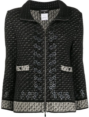 Chanel Pre Owned Boucle Cropped Jacket