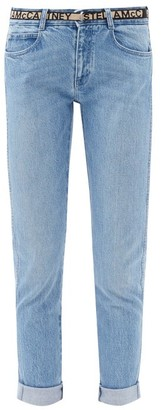 Stella McCartney Logo-jacquard Belted Jeans - Light Blue