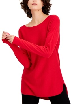INC International Concepts Inc Shirttail Sweater, Created for Macy's