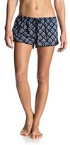Roxy Women's Mystic Topaz Printed Woven Pull-on Beach Shorts