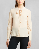 Belstaff Lucy Pussy Bow Blouse Black