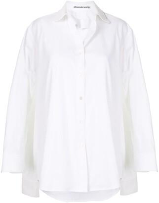 Alexander Wang Oversized Long Sleeve Shirt