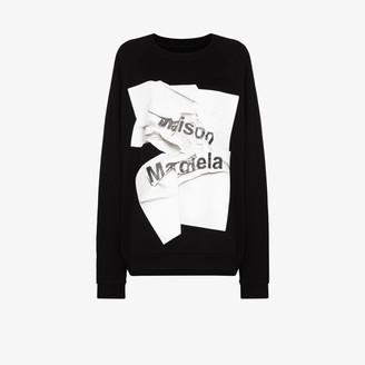 Maison Margiela Graphic Print Sweatshirt