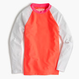 J.Crew Girls' colorblock raglan-sleeve rash guard