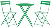 PARC 2 seat metal folding bistro table and chairs set
