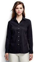 Lands' End Women's Petite Performace Twill Shirt-Rich Red