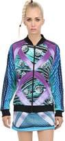 Adidas Originals By Mary Katrantzou Printed Techno Jersey Bomber Jacket