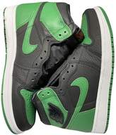 Jordan Air 1 Green Leather Trainers