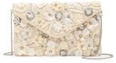 La Regale Floral Beaded Envelope Clutch