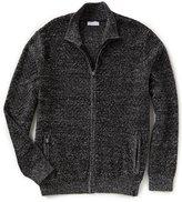 Calvin Klein Herringbone Full-Zip Sweater