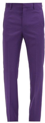 Givenchy Slim-leg Wool-twill Suit Trousers - Purple