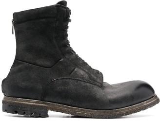 Silvano Sassetti Distressed Lace-Up Boots