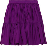 Juicy Couture Tiered cotton-poplin mini skirt