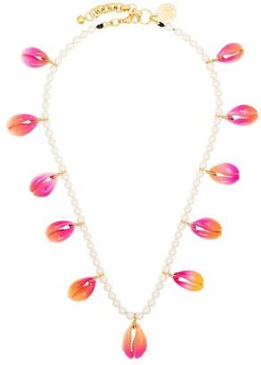 Venessa Arizaga gold-plated Summer Shells pearl necklace
