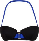 RYDER Two-tone bandeau bikini top