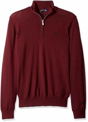 J. Lindeberg Men's Merino Half Zip Sweater