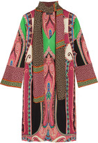 Etro Printed Silk Dress - Burgundy