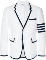 Thom Browne Tennis Collection pique striped single breasted sport coat - men - Cotton - 00