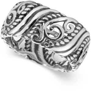 Carolyn Pollack Filigree Band in Sterling Silver