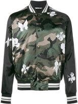 Valentino Mariposa camouflage bomber jacket