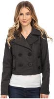 Dollhouse Double Breasted Notch Collar Crop Jacket