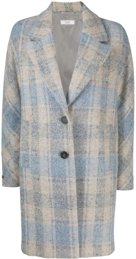 Peserico checked coat