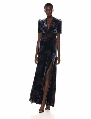 Jill Stuart Jill Women's Printed velevt Gown