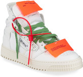 Off-White Off White Off Court High-Top Leather Sneakers