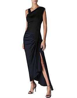 Columbia Bianca Spender Navy Satin Dress