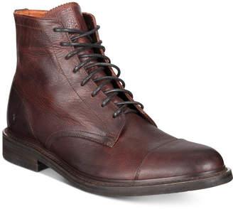 Frye Men Seth Cap-Toe Lace-Up Boots Men Shoes