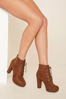 Forever 21 FOREVER 21+ Faux Suede Platform Ankle Boot