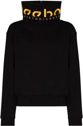 Reebok x Victoria Beckham X Victoria Beckham logo-embroidered sweatshirt