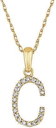 Sabrina Designs 14K Diamond A-Z Initial Necklace