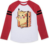 JEM Little Boys' Pokemon Long-Sleeve Pikachu Bolt Box T-Shirt